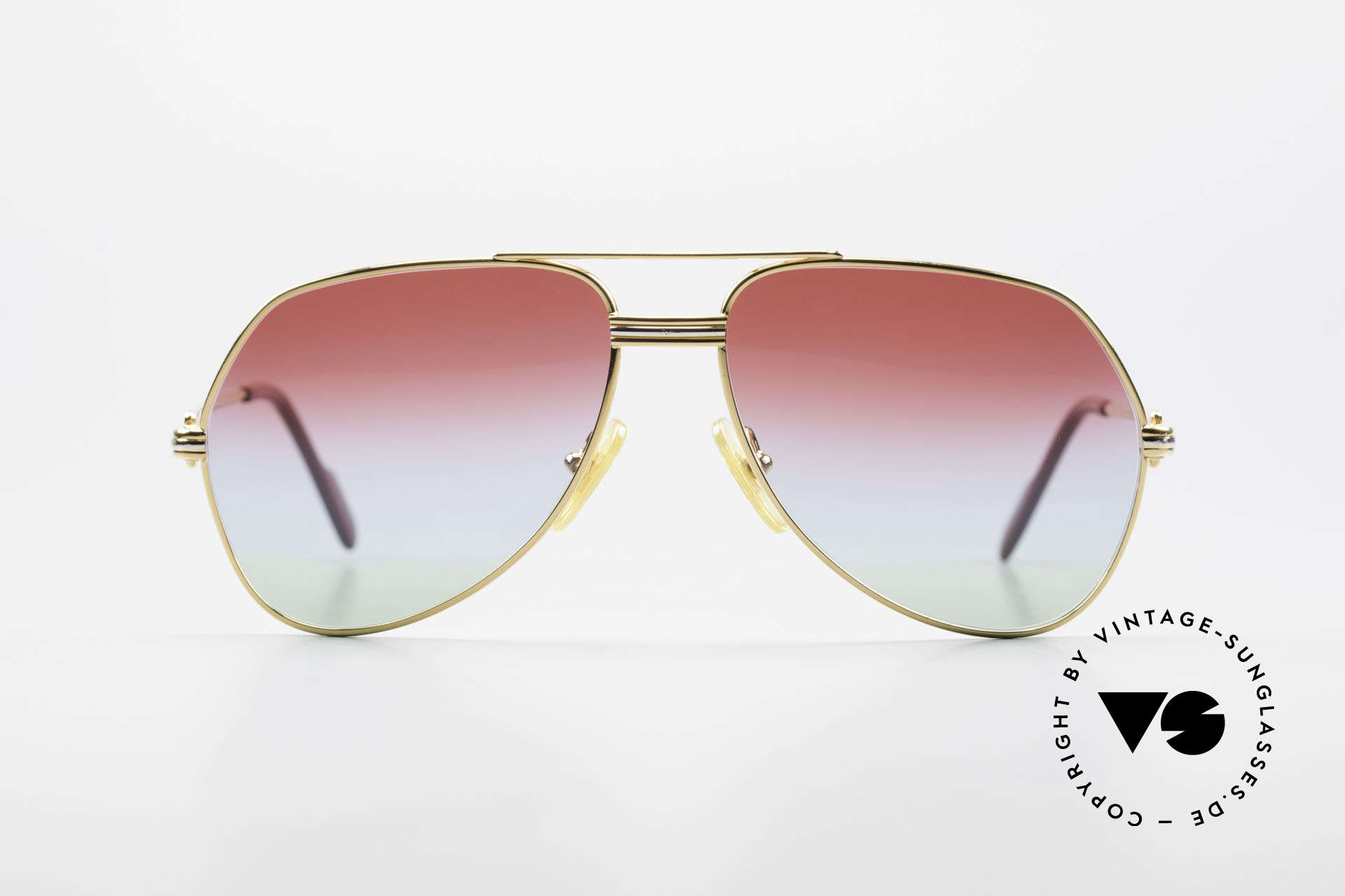 """Cartier Vendome LC - S 1980's Sunglasses Tricolored, model """"Vendome"""" was launched in 1983 & made till 1997, Made for Men and Women"""