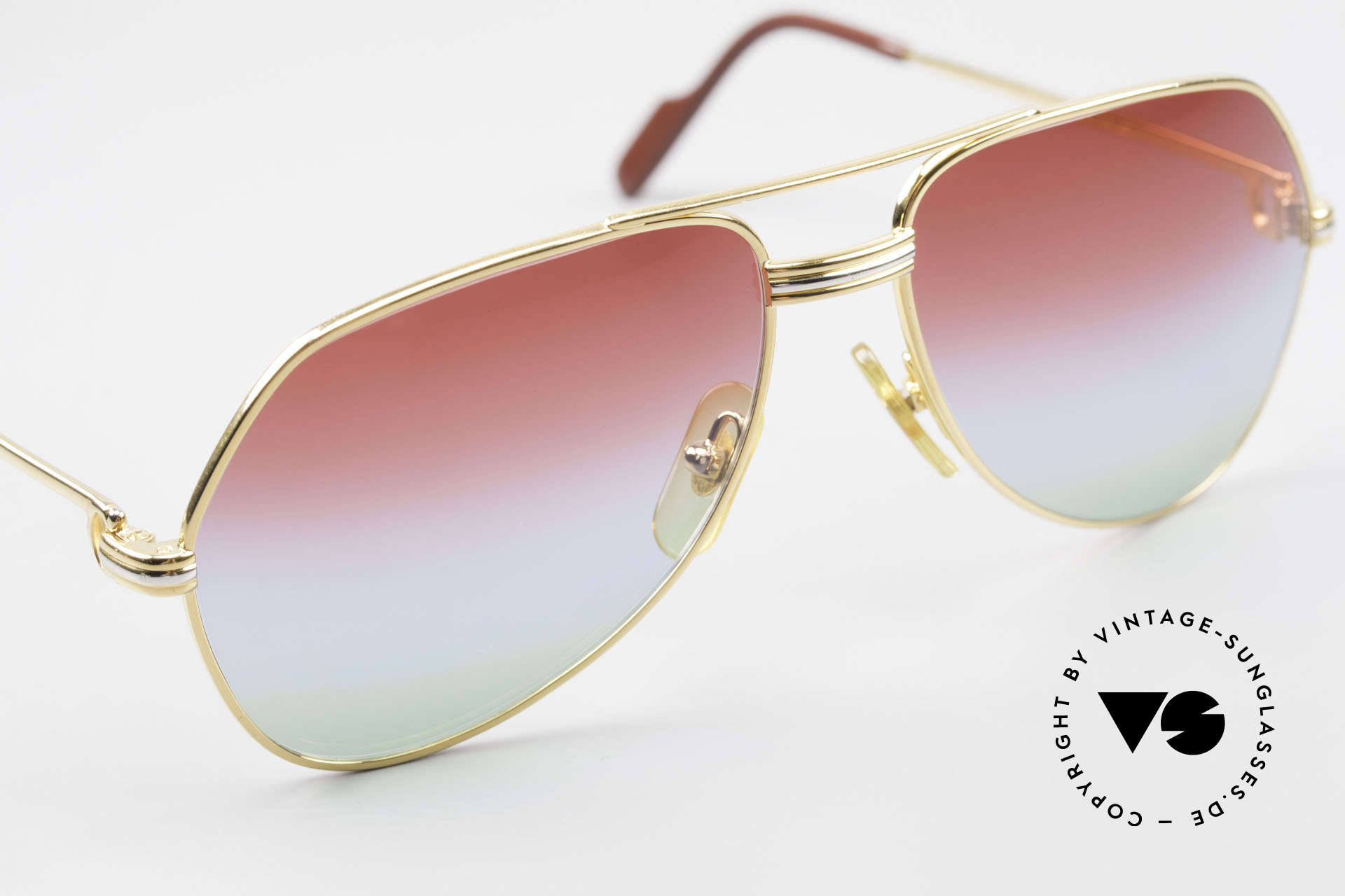 Cartier Vendome LC - S 1980's Sunglasses Tricolored, 2nd hand model, but in mint condition with Cartier box, Made for Men and Women