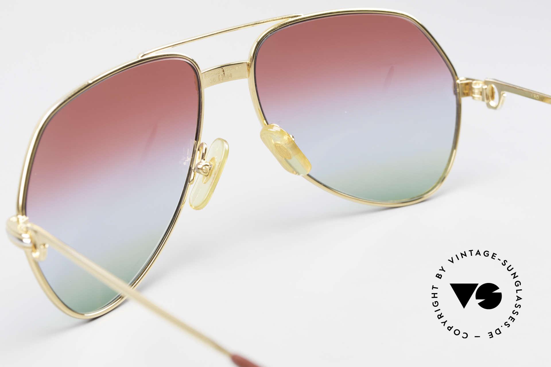 Cartier Vendome LC - S 1980's Sunglasses Tricolored, NO retro sunglasses, but an authentic vintage ORIGINAL, Made for Men and Women