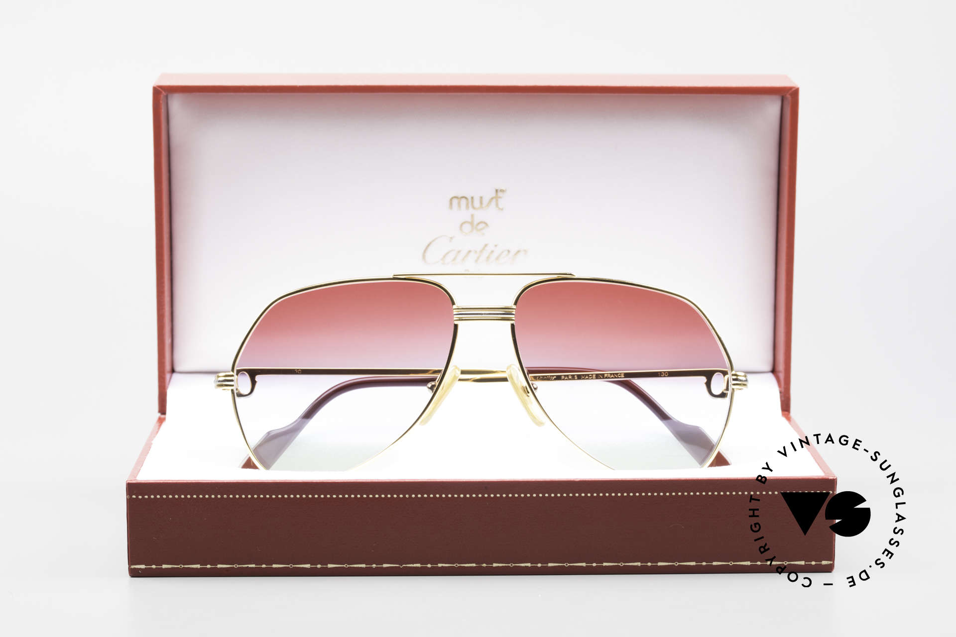 Cartier Vendome LC - S 1980's Sunglasses Tricolored, Size: medium, Made for Men and Women