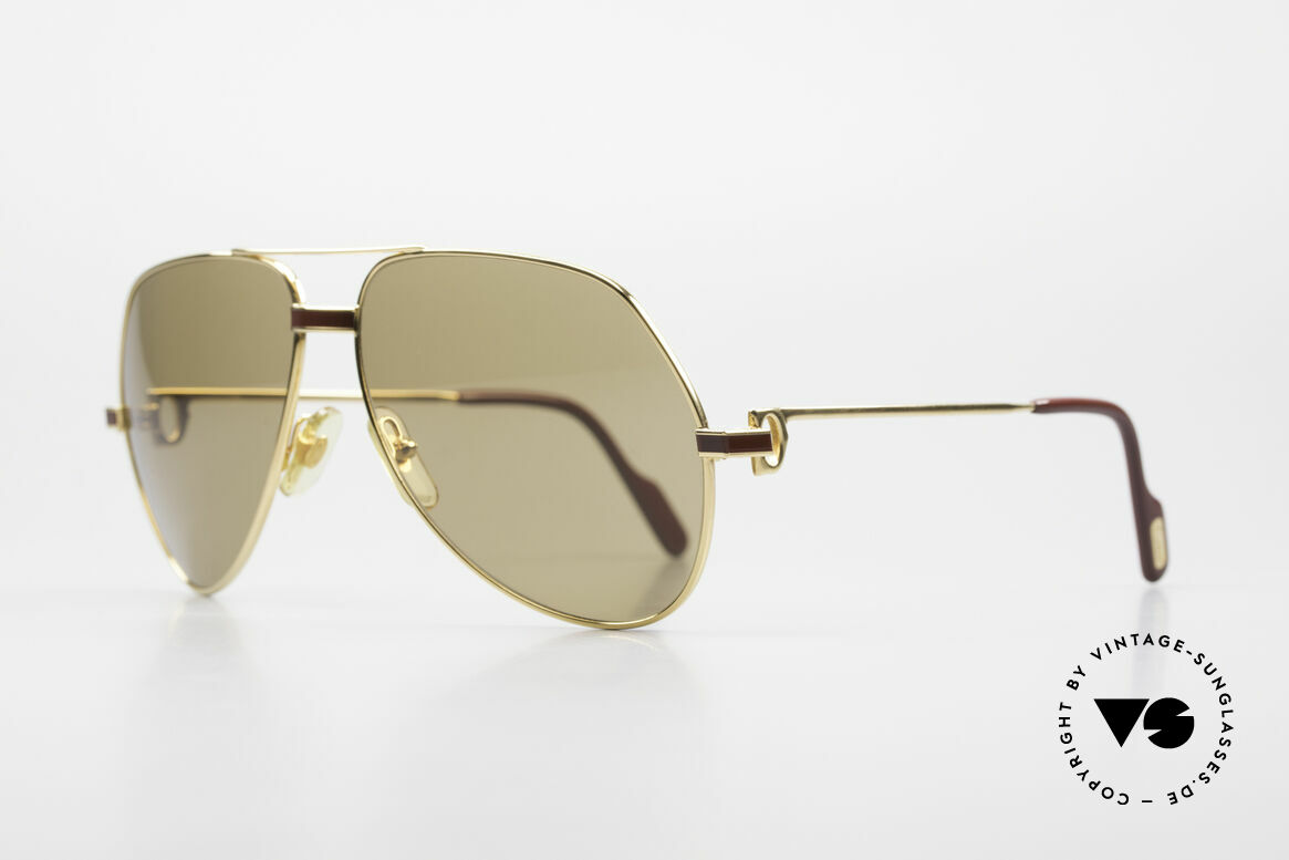 Cartier Vendome Laque - L Mystic Cartier Mineral Lenses, 22ct gold-plated (with Laque decor); LARGE size 62-14, Made for Men