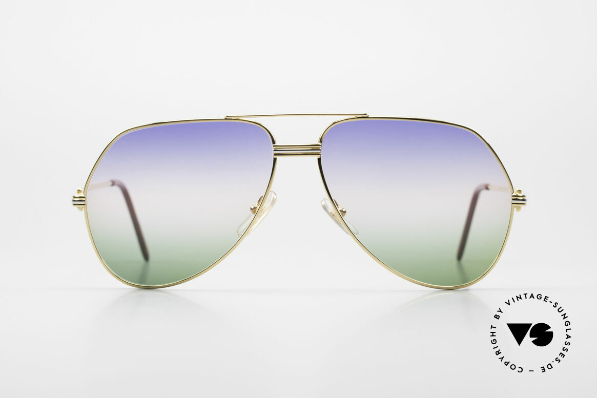 "Cartier Vendome LC - L Rare Luxury Sunglasses 80's, mod. ""Vendome"" was launched in 1983 & made till 1997, Made for Men"