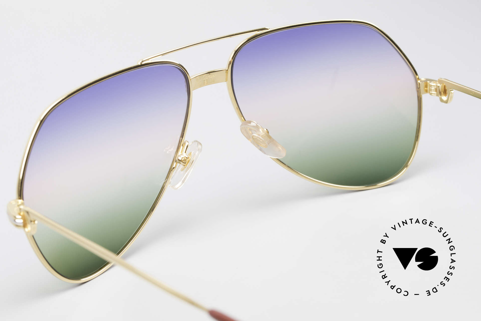Cartier Vendome LC - L Rare Luxury Sunglasses 80's, unworn with original Cartier packing (collector's item), Made for Men