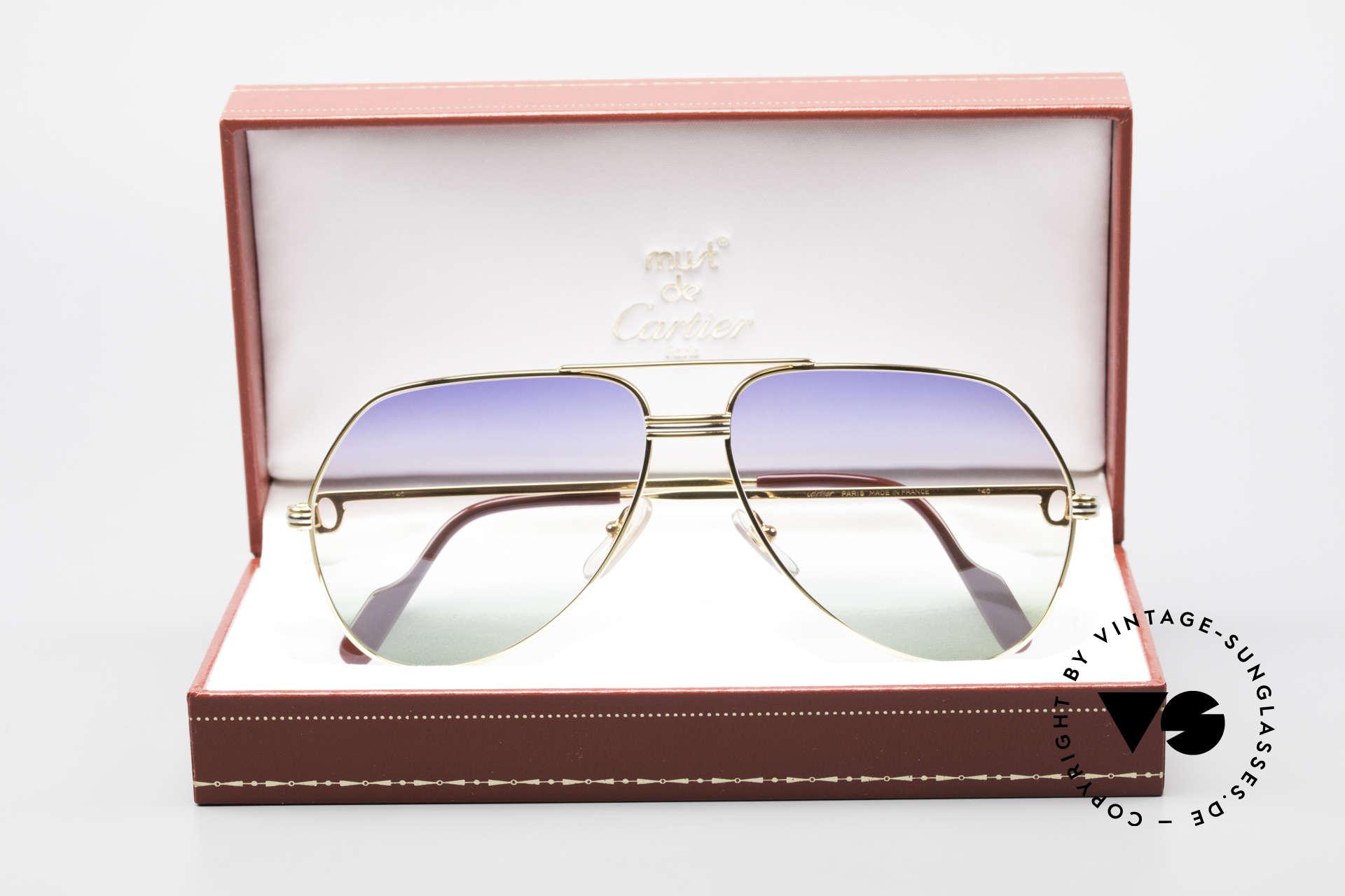 Cartier Vendome LC - L Rare Luxury Sunglasses 80's, NO retro sunglasses, but an authentic vintage ORIGINAL, Made for Men