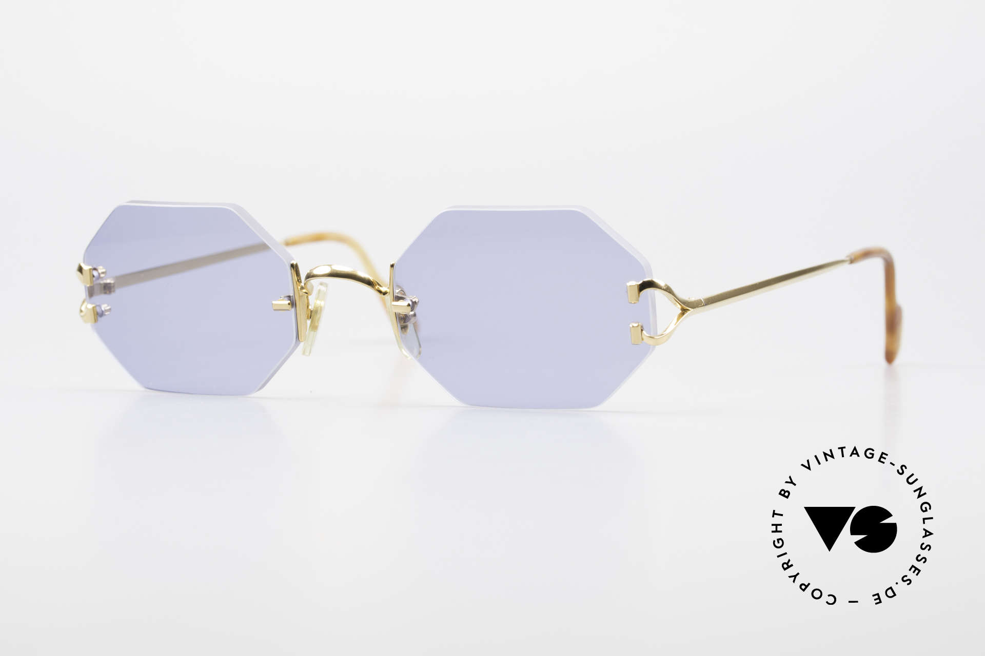 Cartier Rimless Octag Octag Shades One of a Kind, octagonal rimless CARTIER luxury shades from '97, Made for Men and Women