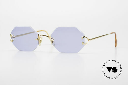 Cartier Rimless Octag Octag Shades One of a Kind Details
