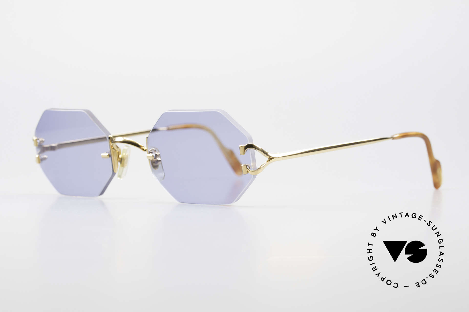 Cartier Rimless Octag Octag Shades One of a Kind, customized by our optician; in large size (140mm), Made for Men and Women