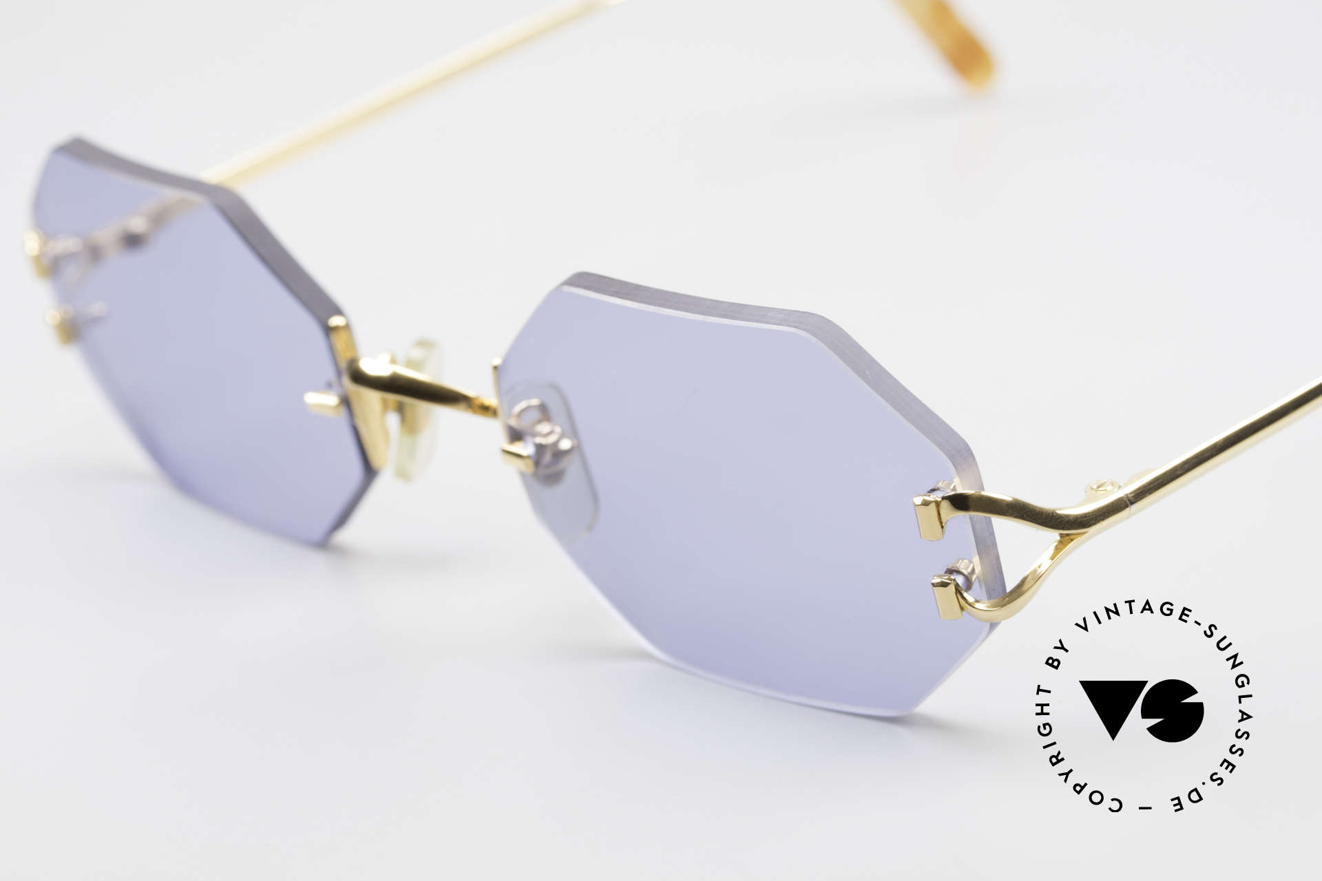 Cartier Rimless Octag Octag Shades One of a Kind, precious OCTAG designer shades; 22ct GOLD-plated, Made for Men and Women