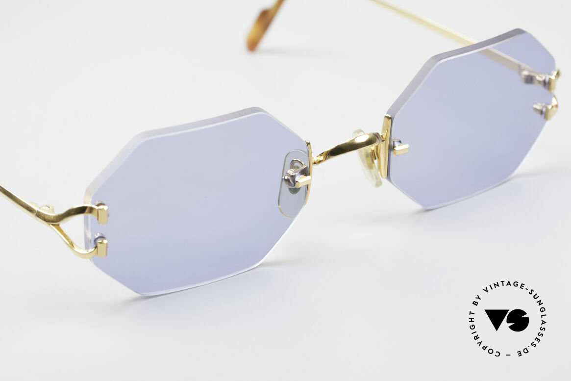 Cartier Rimless Octag Octag Shades One of a Kind, 2. hand, but in absolutely mint condition + orig. box, Made for Men and Women