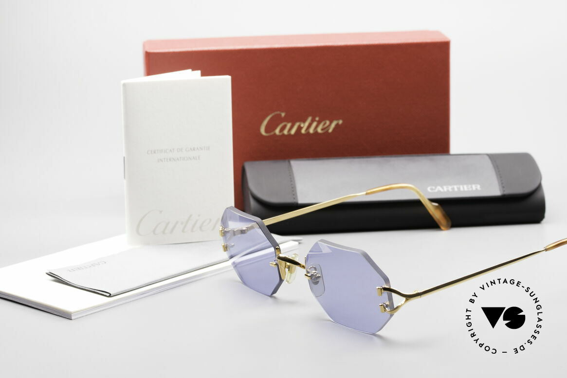 Cartier Rimless Octag Octag Shades One of a Kind, NO RETRO, but a RARE old ORIGINAL, one of a kind!, Made for Men and Women