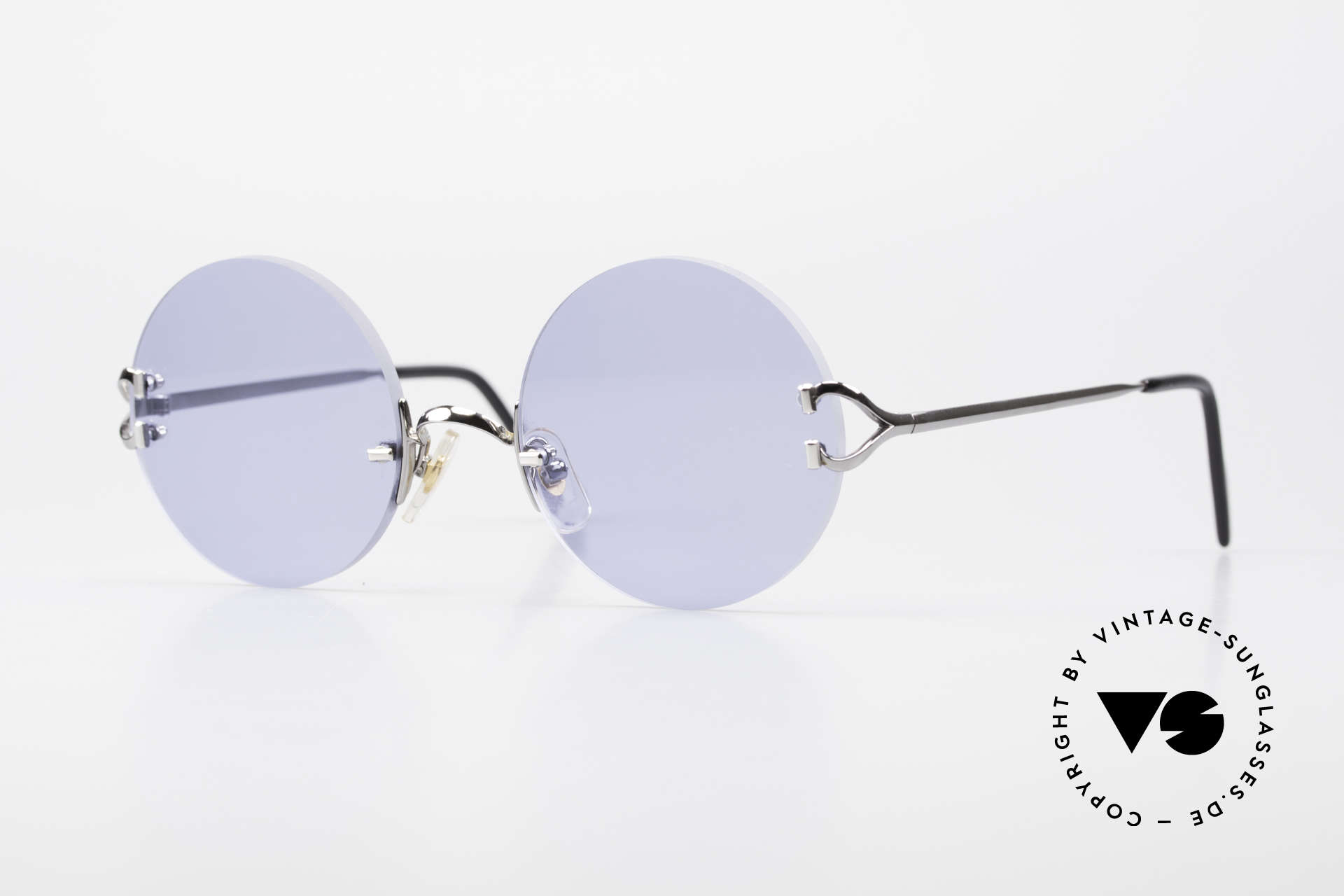 Cartier Madison Round Sunglasses Gunmetal, round CARTIER Madison: ultra rare Gunmetal Edition, Made for Men and Women