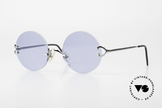 Cartier Madison Round Sunglasses Gunmetal Details
