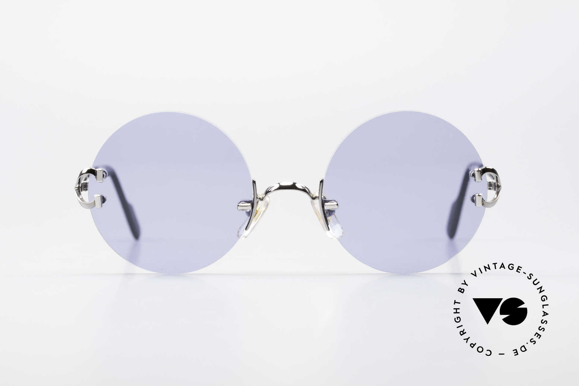 Cartier Madison Round Sunglasses Gunmetal, the frame finish shines like anthracite chrome-plated, Made for Men and Women