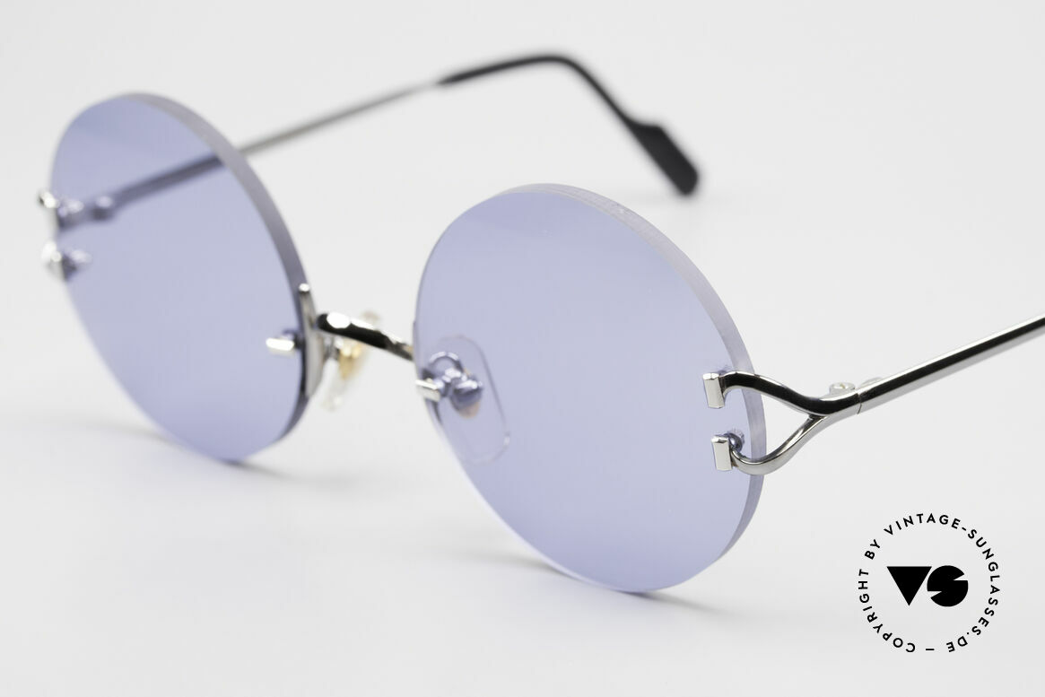 Cartier Madison Round Sunglasses Gunmetal, unworn with new blue lenses and CARTIER hard case, Made for Men and Women