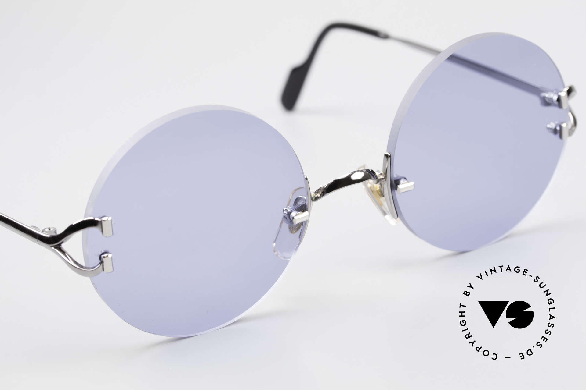 Cartier Madison Round Sunglasses Gunmetal, 135mm temples & 130mm width = rather medium size, Made for Men and Women