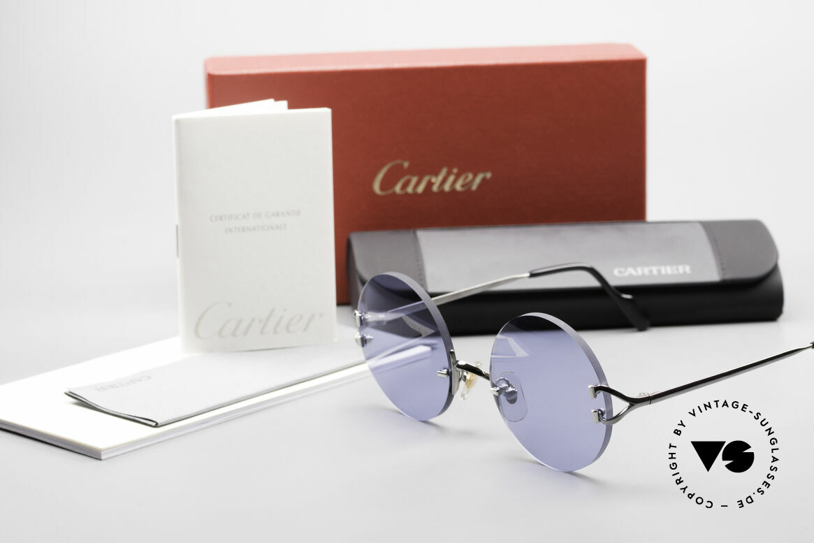 Cartier Madison Round Sunglasses Gunmetal, many celebrities wear this Cartier model, these days, Made for Men and Women