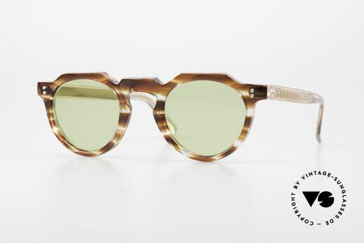 Lesca Panto 6mm Antique 1960's Sunglasses Details