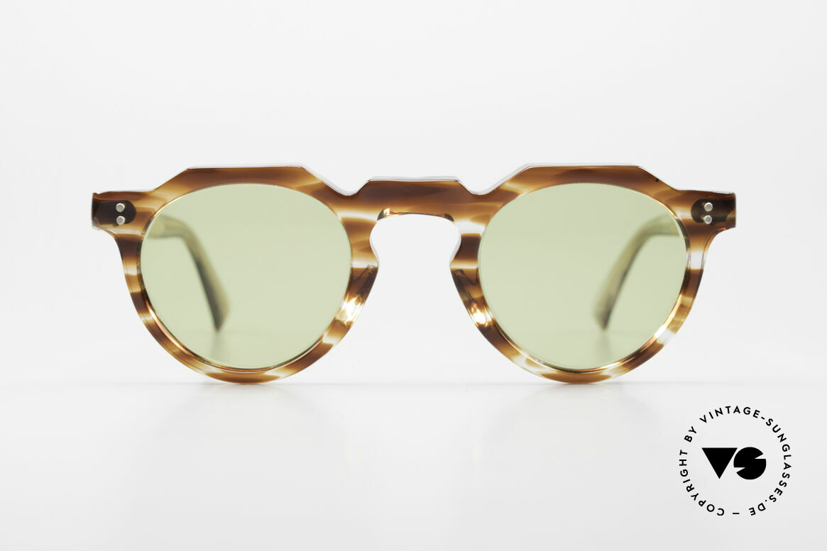 Lesca Panto 6mm Antique 1960's Sunglasses, very massive frame (6mm thick profil); built to last!, Made for Men and Women