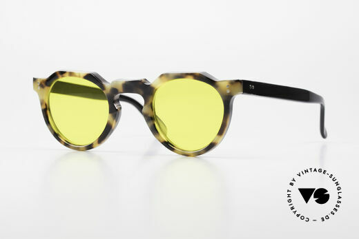 Lesca Panto 6mm 60's Panto Sunglasses France Details