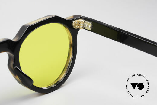 Lesca Panto 6mm 60's Panto Sunglasses France, Size: medium, Made for Men and Women