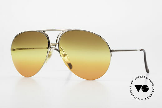 Porsche 5627 Half Rimless 90's Sunglasses Details
