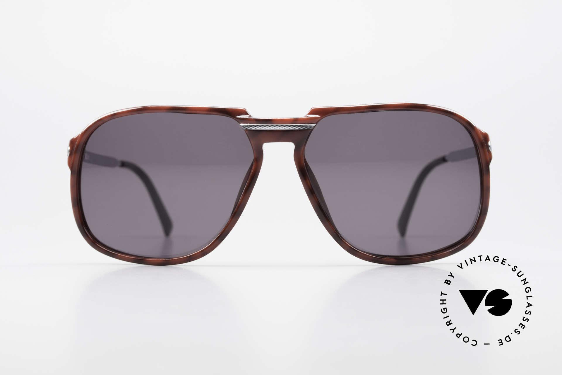 """Dunhill 6005 Rare Old Men's Sunglasses 1984, elegant OPTYL-front in """"tortoise-shell bordeaux"""", Made for Men"""