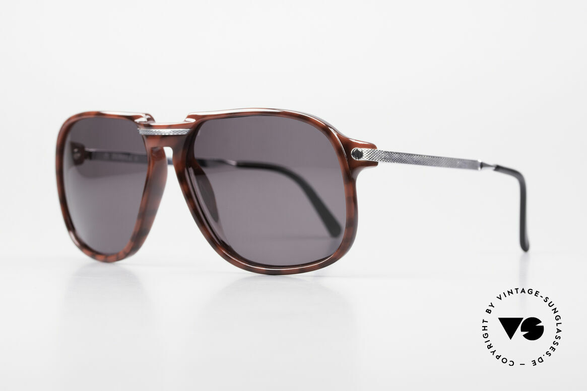 Dunhill 6005 Rare Old Men's Sunglasses 1984, precious rhodanized metal parts with Barley facets, Made for Men