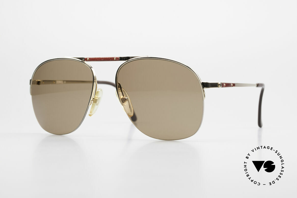 Dunhill 6022 80's Gentlemen's Sunglasses, extremely noble men's glasses by Dunhill from 1984, Made for Men