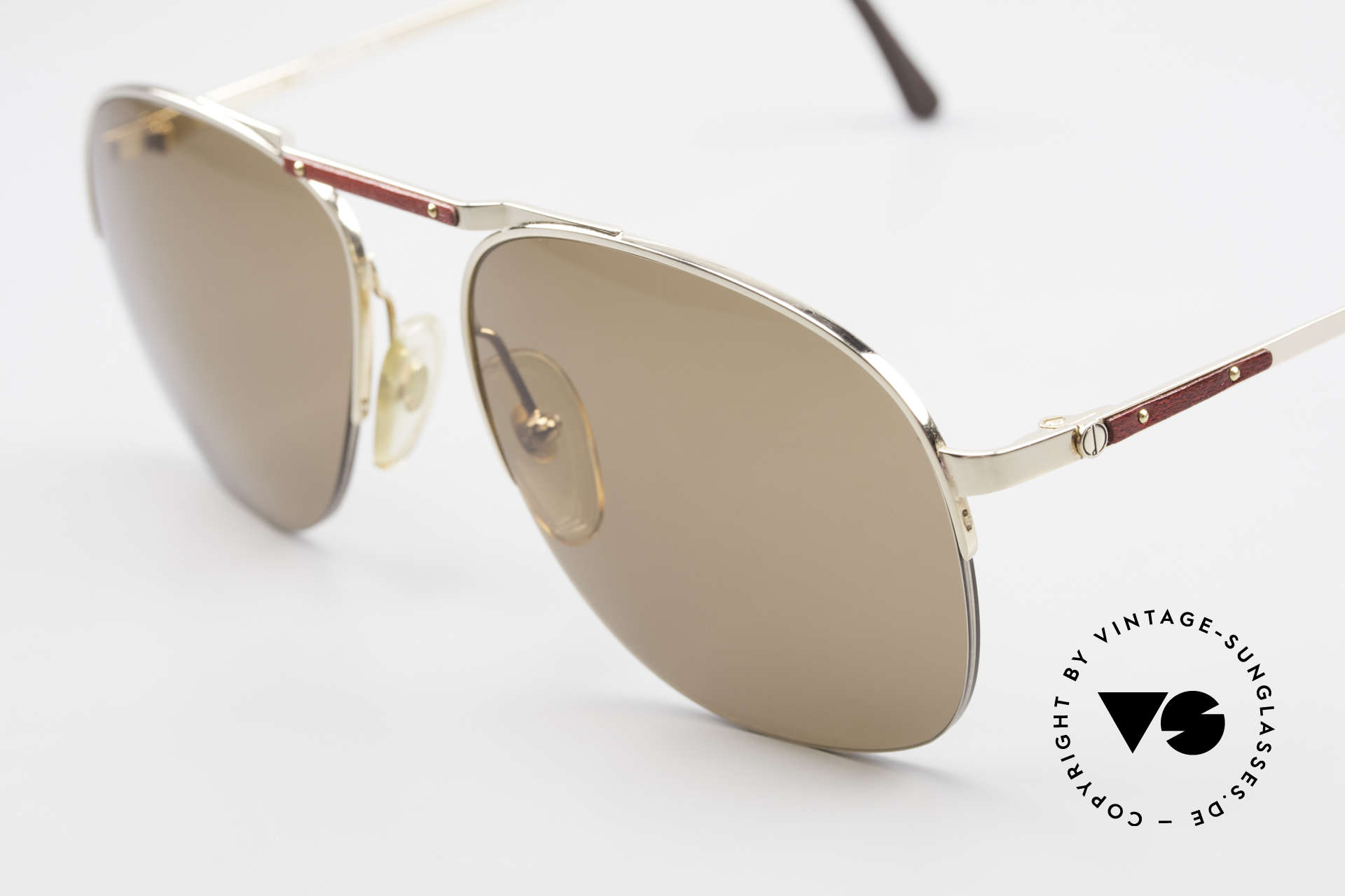 Dunhill 6022 80's Gentlemen's Sunglasses, semi rimless (lightweight and very pleasant to wear), Made for Men