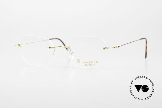 Henry Jullien Melrose 4000 Rimless Vintage Frame 90's Details