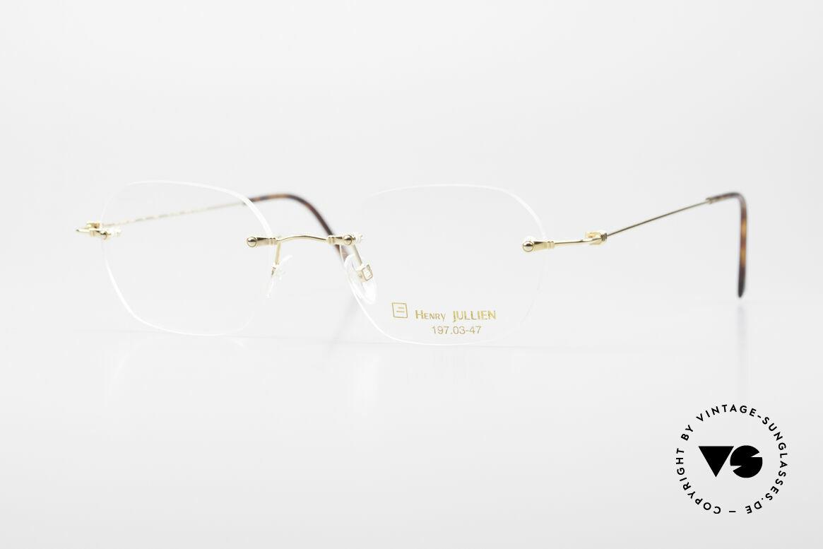 Henry Jullien Melrose 4000 Rimless Vintage Frame 90's, rimless vintage eyeglass-frame by HENRY JULLIEN, Made for Men and Women