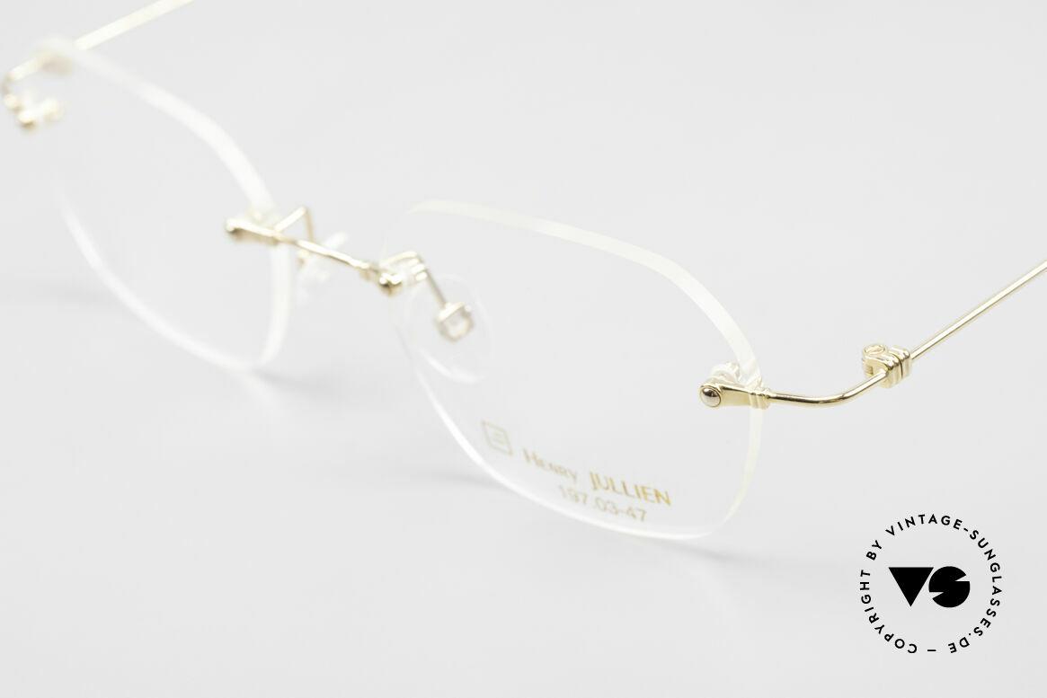 Henry Jullien Melrose 4000 Rimless Vintage Frame 90's, unworn (like all our rare vintage rimless spectacles), Made for Men and Women