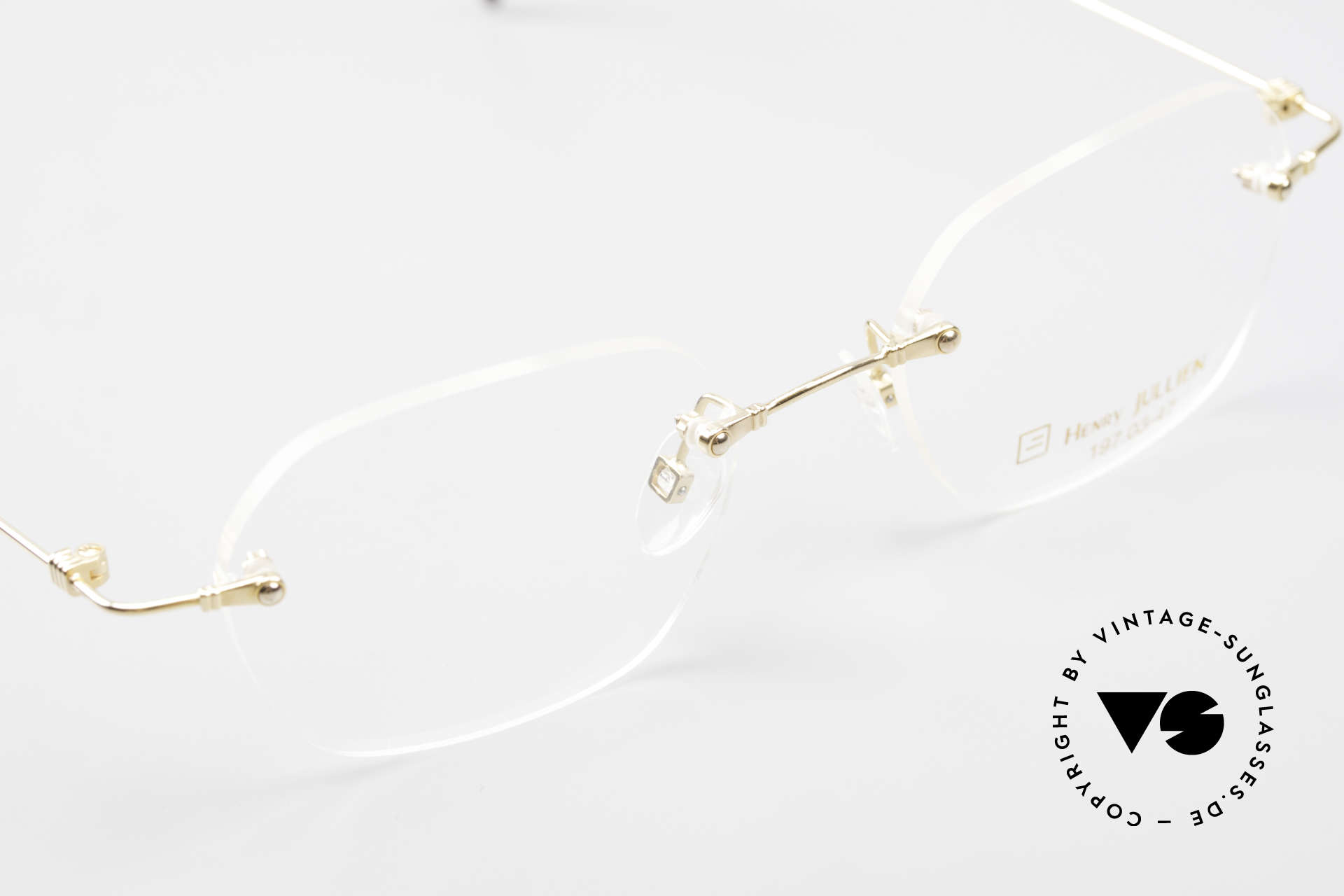 Henry Jullien Melrose 4000 Rimless Vintage Frame 90's, NO retro specs; but an authentic rarity from 1998/99, Made for Men and Women