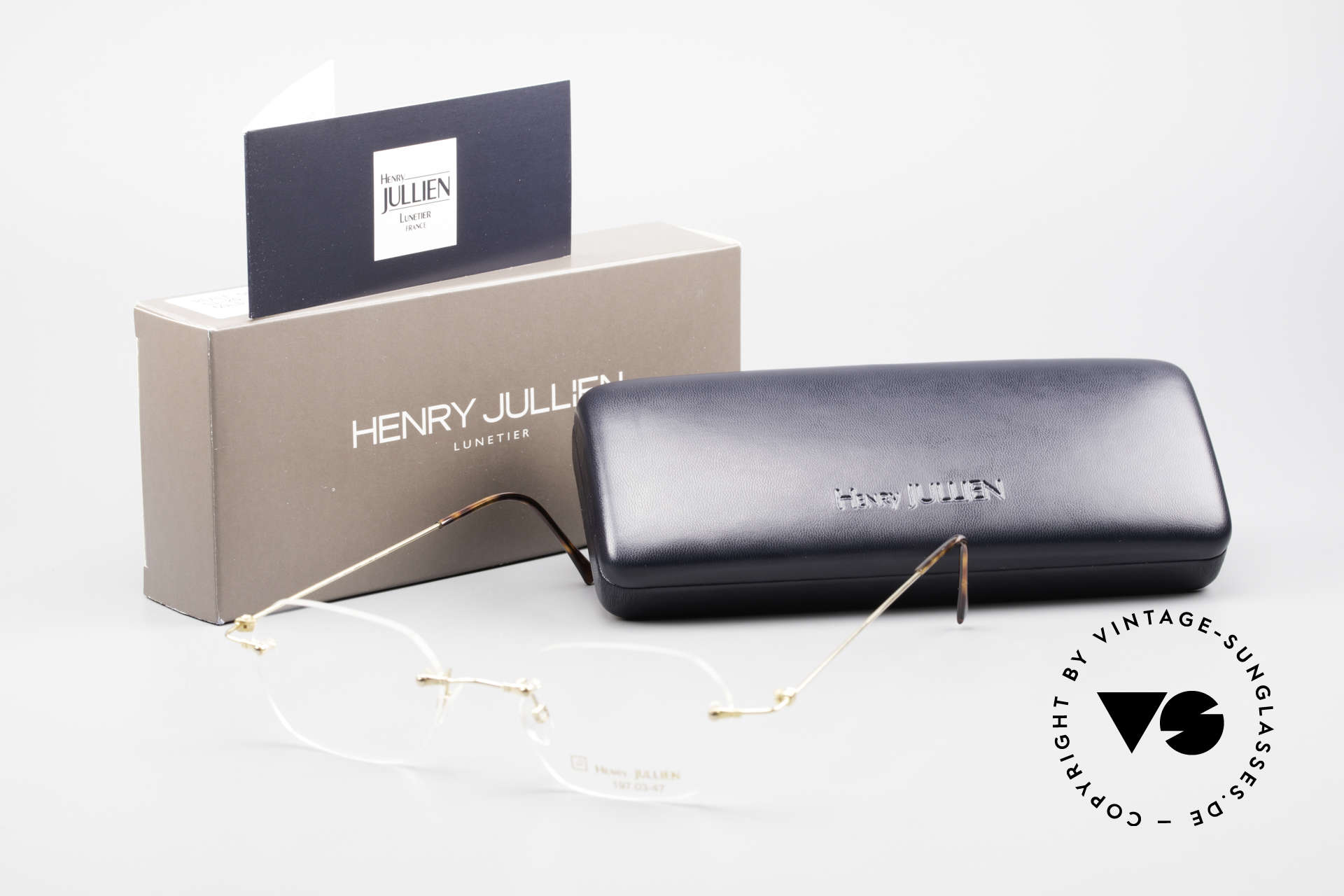 Henry Jullien Melrose 4000 Rimless Vintage Frame 90's, Size: medium, Made for Men and Women