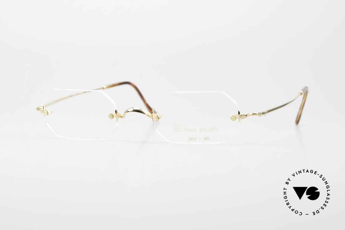 Henry Jullien Paraphe 303 Octagonal Rimless Frame, rimless vintage eyeglass-frame by HENRY JULLIEN, Made for Men and Women