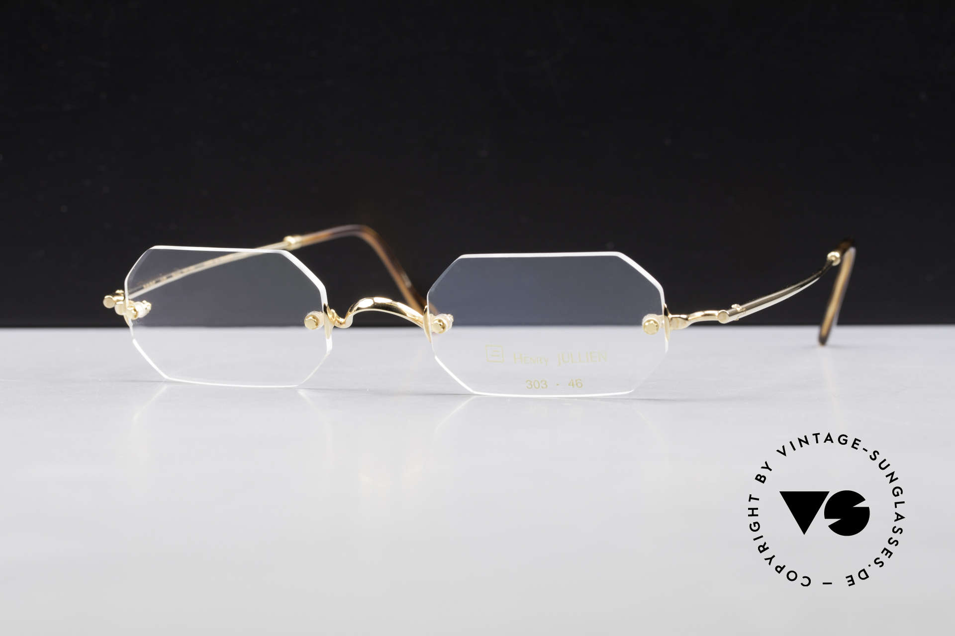 Henry Jullien Paraphe 303 Octagonal Rimless Frame, accordingly top-notch, noble & precious frame finish, Made for Men and Women