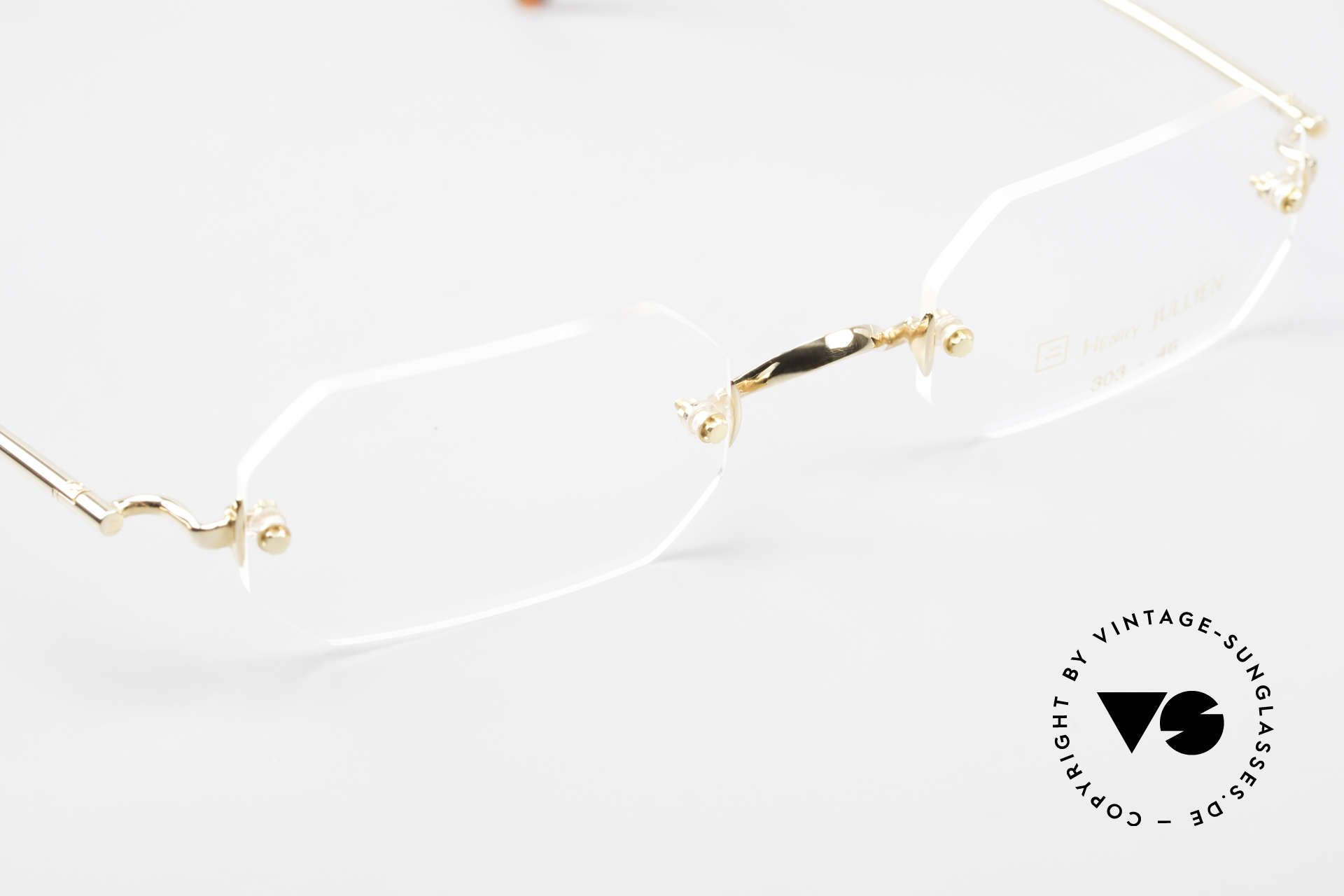 Henry Jullien Paraphe 303 Octagonal Rimless Frame, NO RETRO specs; but an authentic rarity from 2008, Made for Men and Women