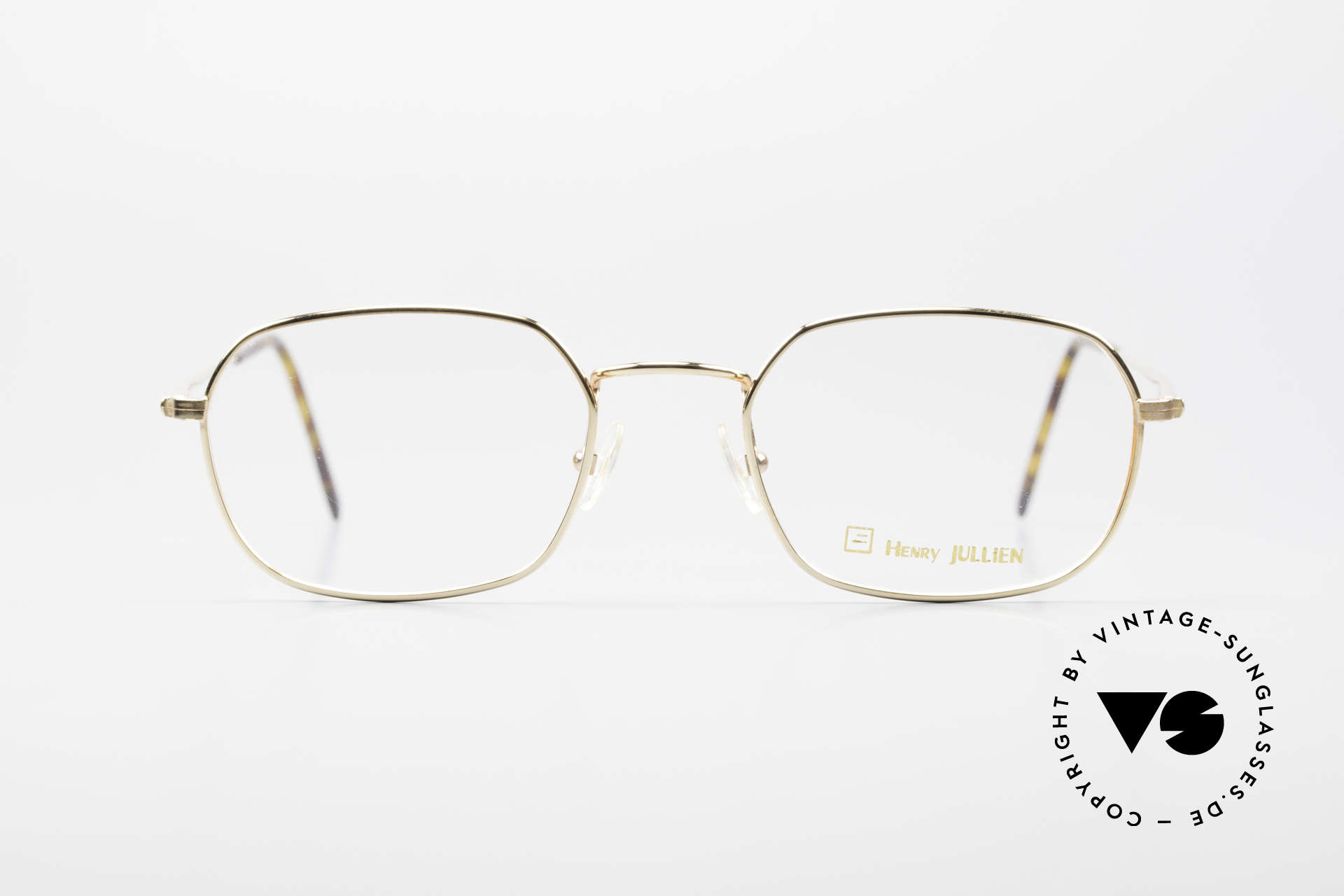 Henry Jullien Reale 05 Gold Plated Vintage Frame, Jullien is well-known for high-end gold processing, Made for Men and Women