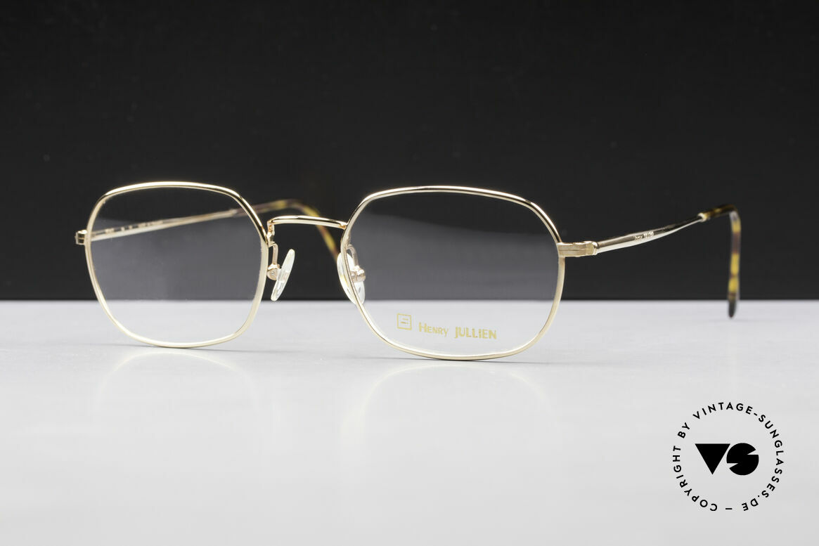 Henry Jullien Reale 05 Gold Plated Vintage Frame, accordingly top-notch, noble & precious frame finish, Made for Men and Women