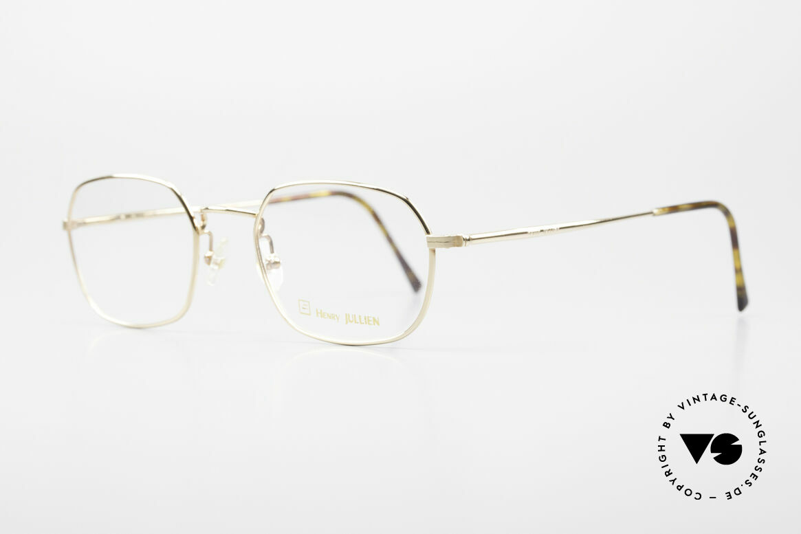 Henry Jullien Reale 05 Gold Plated Vintage Frame, classic full rimmed frame with flexible spring hinges, Made for Men and Women