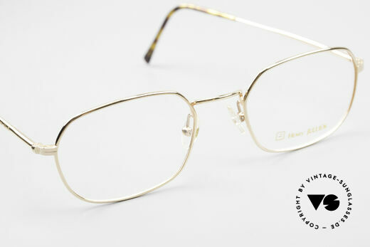 Henry Jullien Reale 05 Gold Plated Vintage Frame, NO RETRO eyewear; but an OLD RARITY in size 51/20, Made for Men and Women