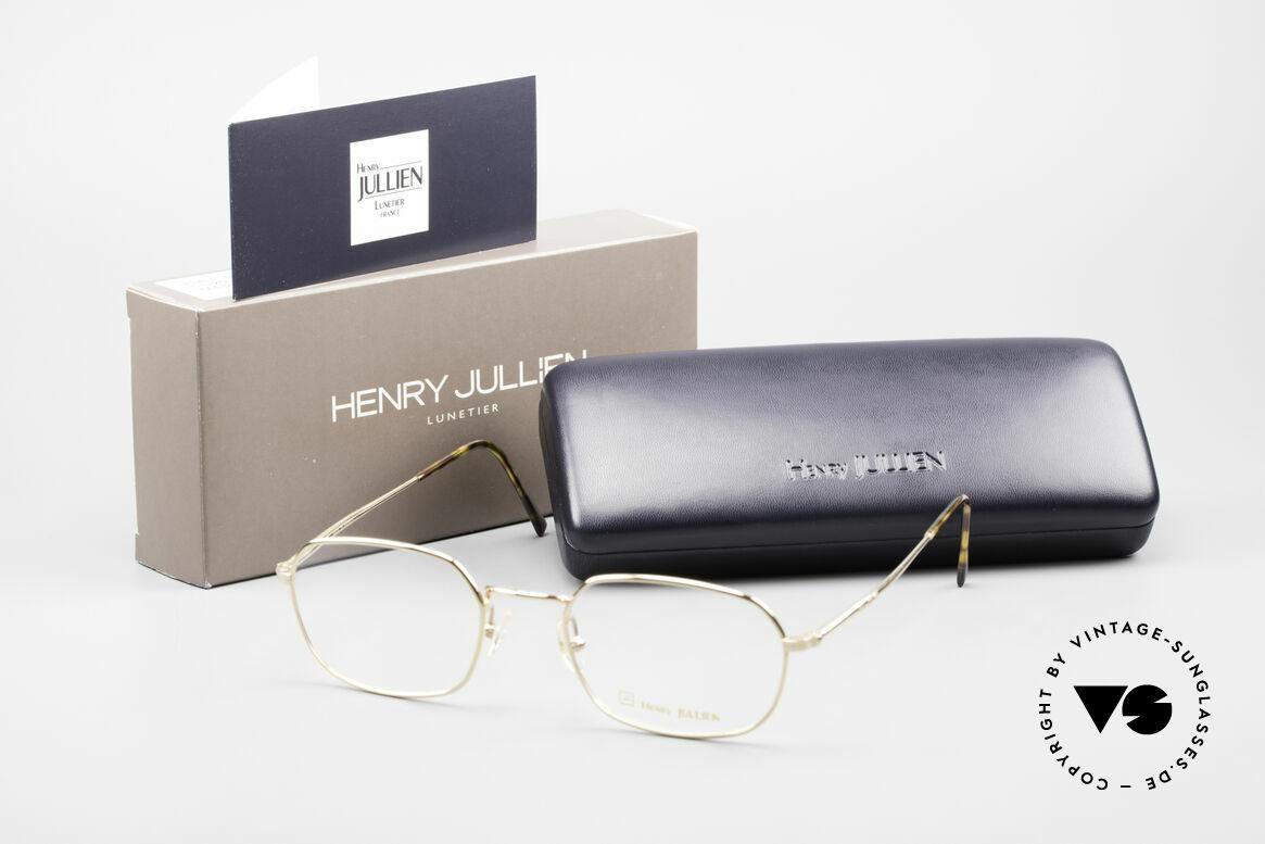 Henry Jullien Reale 05 Gold Plated Vintage Frame, Size: medium, Made for Men and Women