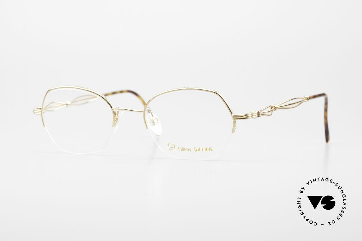 Henry Jullien Ellipse 12 Gold Doublé Ladies Glasses, vintage Henry Jullien Ellipse eyeglass-frame from 2001, Made for Women