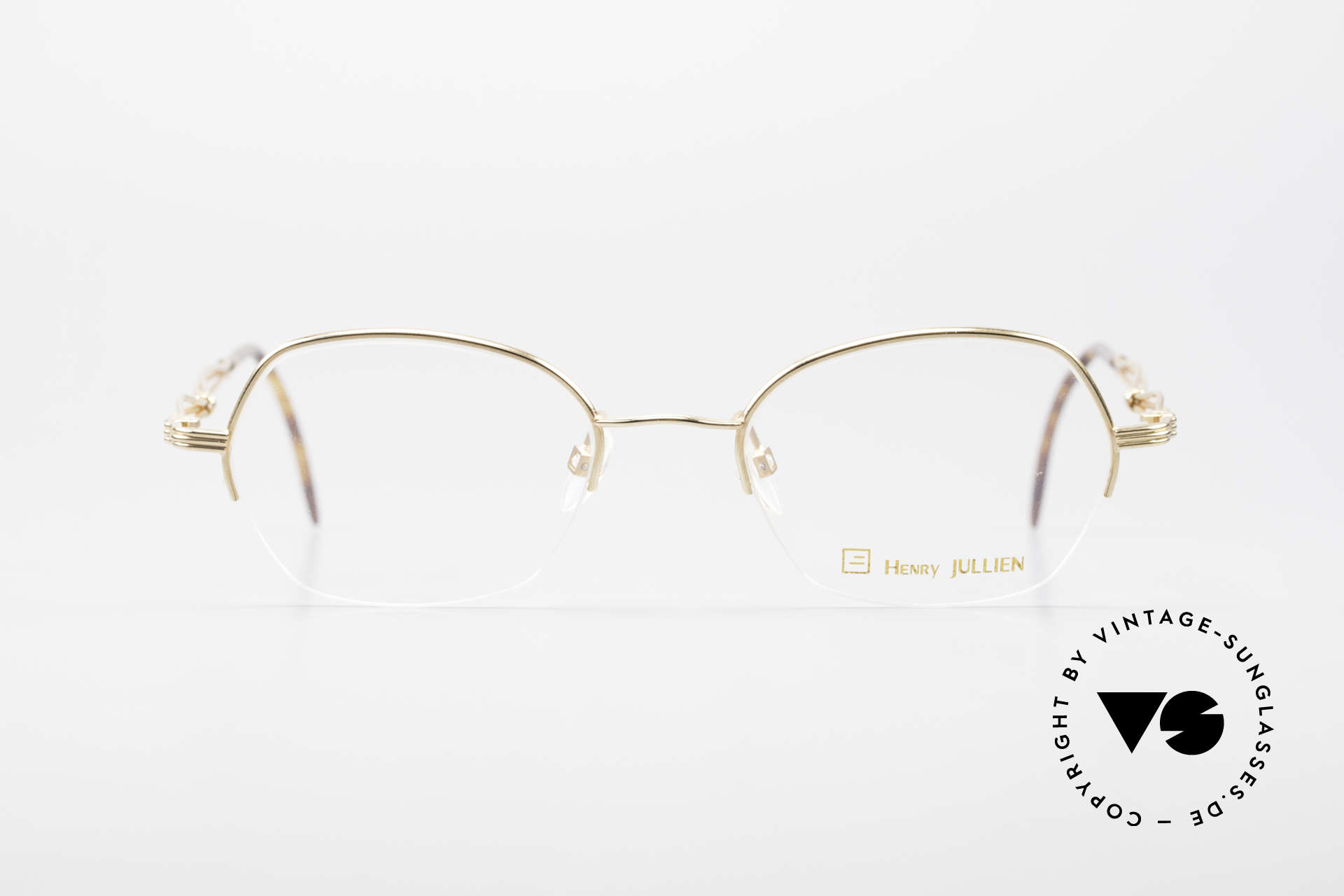 Henry Jullien Ellipse 12 Gold Doublé Ladies Glasses, gold doublé frame in 40/000 proportion; precious rarity, Made for Women