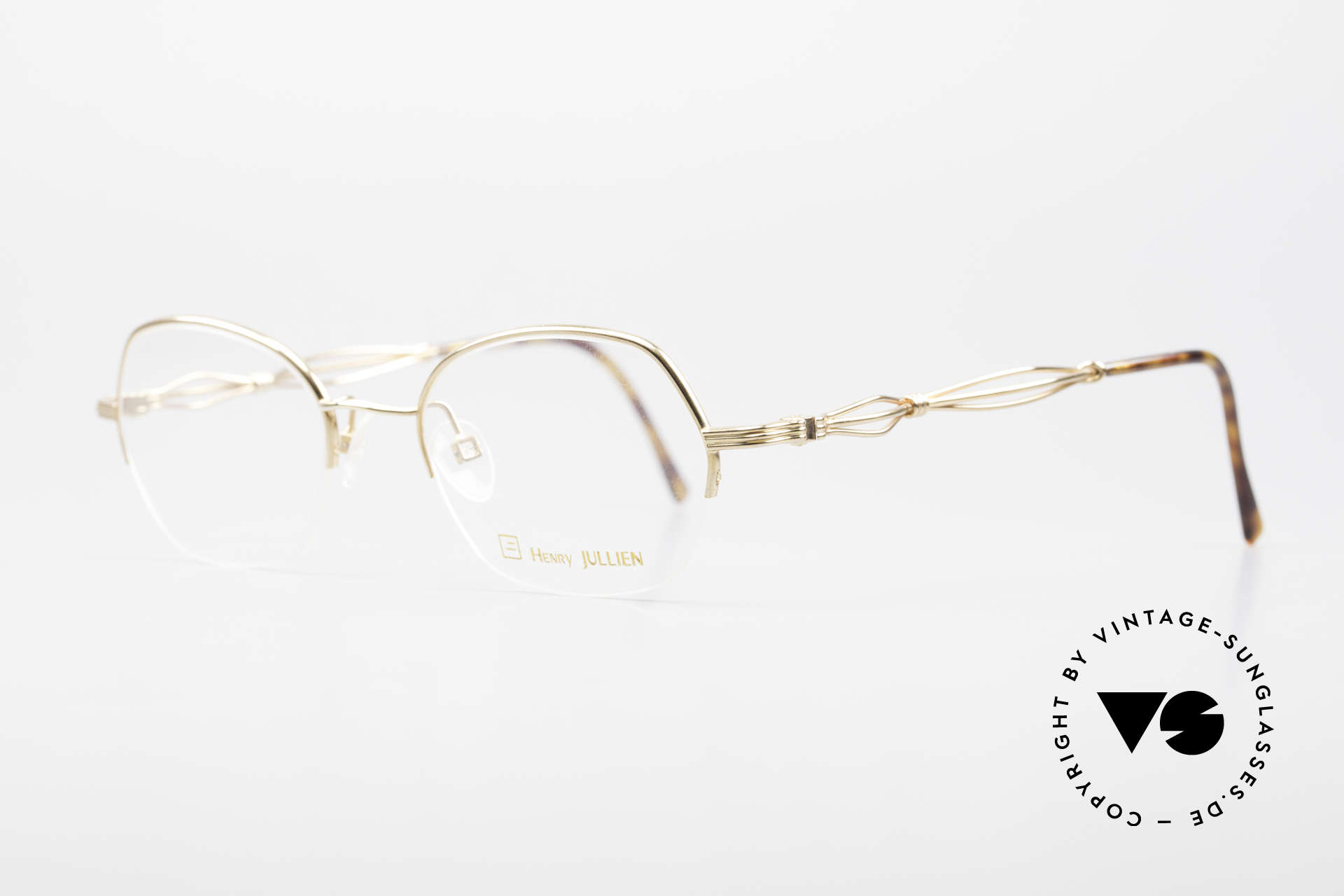 Henry Jullien Ellipse 12 Gold Doublé Ladies Glasses, incredible premium quality thanks to costly handicraft, Made for Women