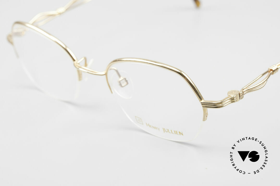 Henry Jullien Ellipse 12 Gold Doublé Ladies Glasses, semi rimless (DEMO lenses can be replaced optionally), Made for Women