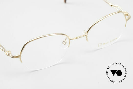 Henry Jullien Ellipse 12 Gold Doublé Ladies Glasses, NO RETRO; but an over 20 years old Original, size 47/19, Made for Women