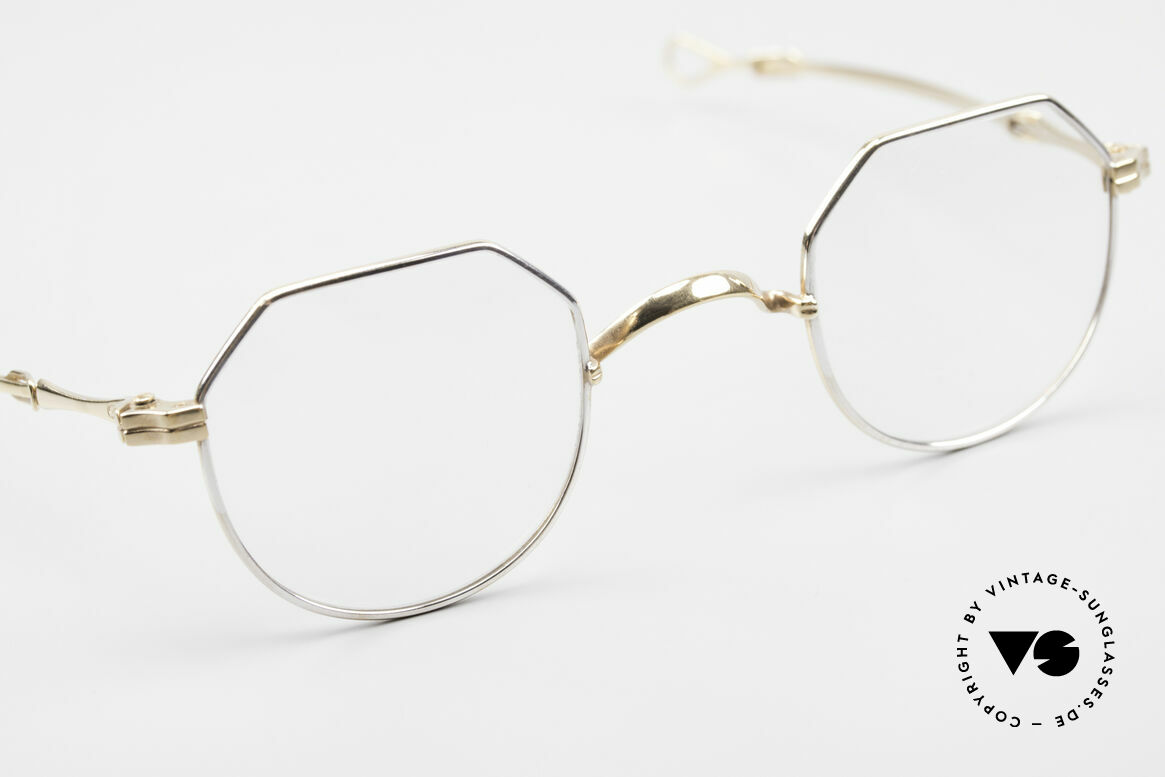 Lunor I 18 Telescopic Glasses With Telescopic Arms, unworn rarity from app. 1999 with BICOLOR finish, Made for Men and Women