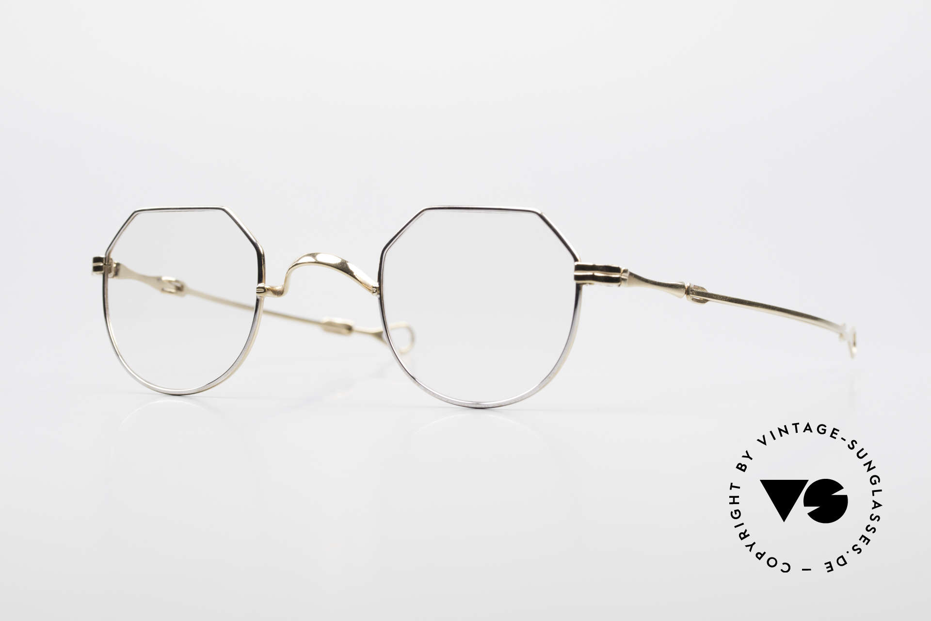 """Lunor I 18 Telescopic Glasses With Telescopic Arms, old LUNOR telescopic eyeglasses or """"sliding glasses', Made for Men and Women"""