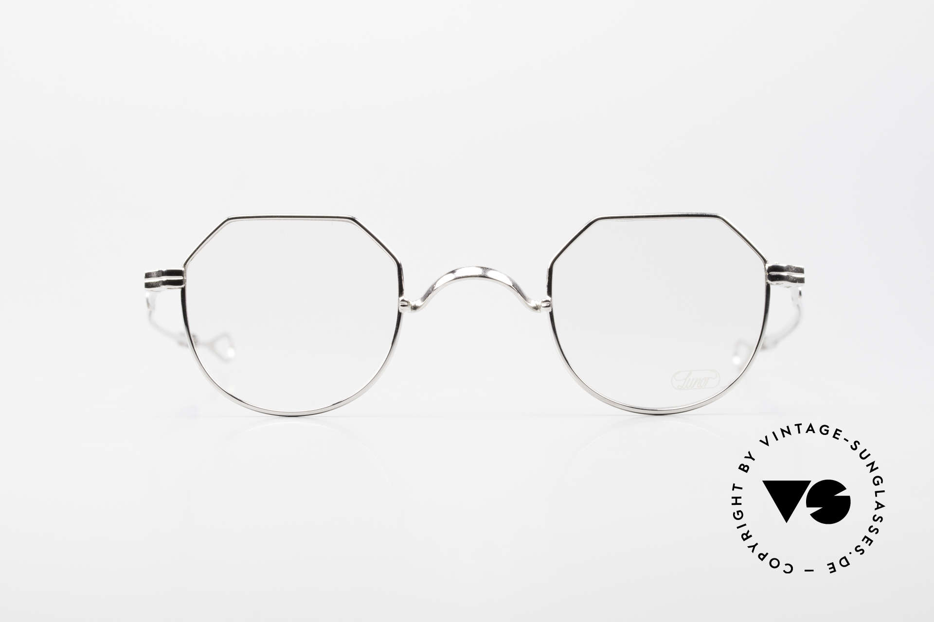 Lunor I 18 Telescopic Telescopic Platinum Frame, the (arms) temples are extendable like a telescope, Made for Men and Women